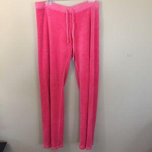Juicy couture pink sweatpants size L